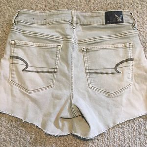 AEO Army Green High Rise Shortie